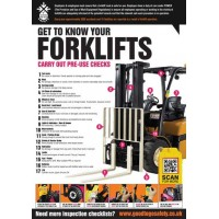 A2 Forklift Inspection Checklist Poster