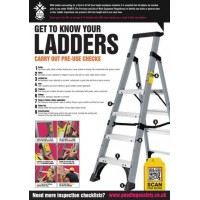 A2 Ladder Inspection Checklist Poster