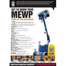 A2 MEWP Inspection Checklist Poster