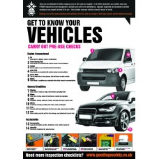A2 Vehicle Inspection Checklist Poster