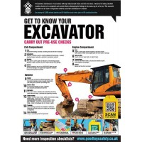 A2 Excavator Inspection Checklist Poster